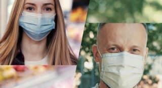 Alltag mit Maske und Kontaktlinsen