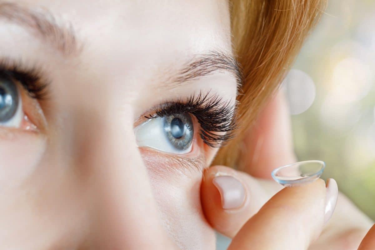 Formstabile Kontaktlinsen (Harte Kontaktlinsen) Anwendung