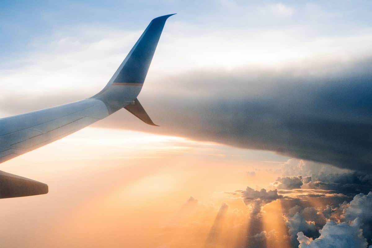 Kontaktlinsen im Flugzeug