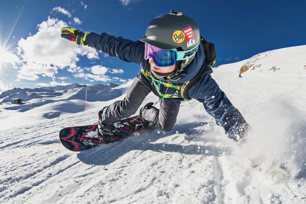 Snowboard und Kontaktlinsen